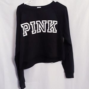 Victoria Secret Pink black crop top